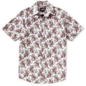 Cremieux Premium Denim Paisley Short Sleeve Shirt